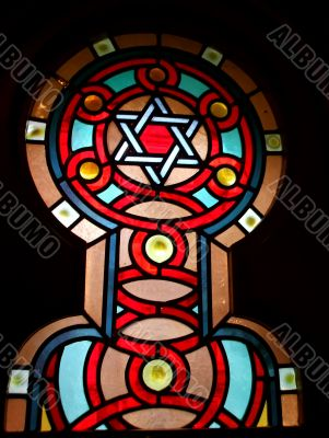 Stained Glass Window in Temple
