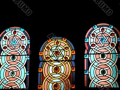 Stained Glass Windows in Temple