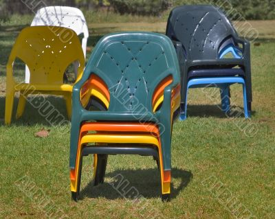 Armchairs are prepared for tourists