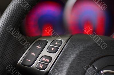steering wheel & speedometer blue