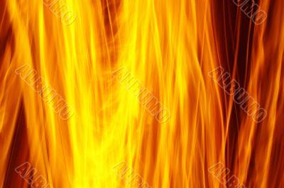 burning wall