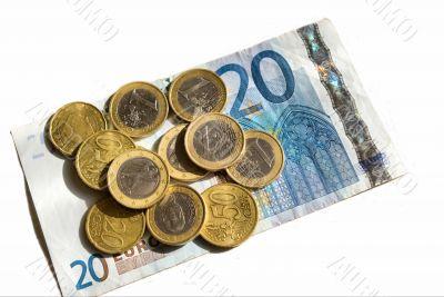 Euro money collage