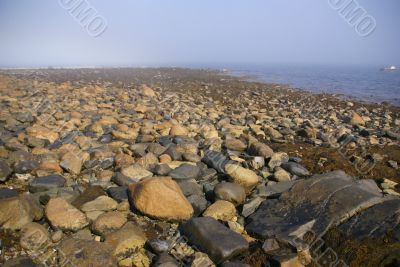 Granite pebbles, rounded by the ocean