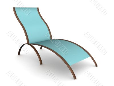 Deckchair on a white background. 3D image.