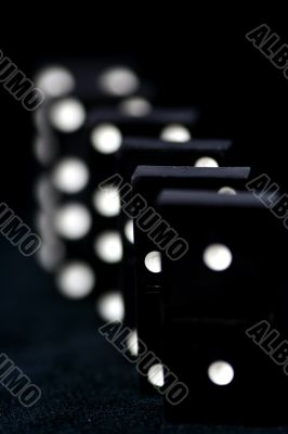 Dominoes isolated in white background