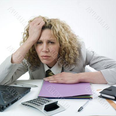 Discouraged businesswoman
