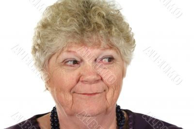 Cheeky Senior Woman
