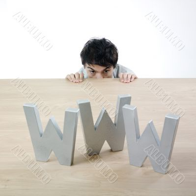 Man and www letters