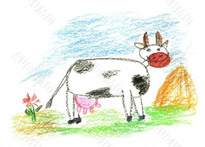 Colored cow