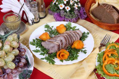 Nourishing dinner with pork