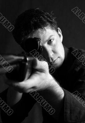 Man with a gun
