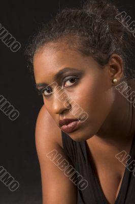 Beautiful African-American girl (portrait)