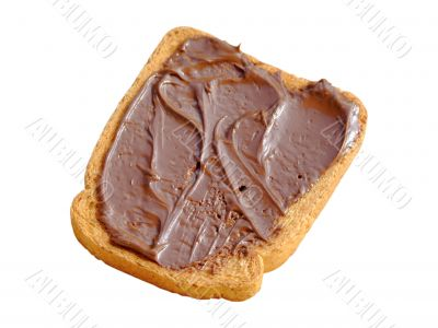 Rusk with cacao cream