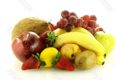 various of fresh ripe juicy fruits