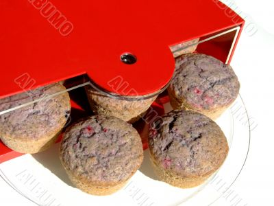 Muffins with berry fruits