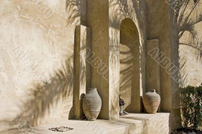 Arabian arch in shadow