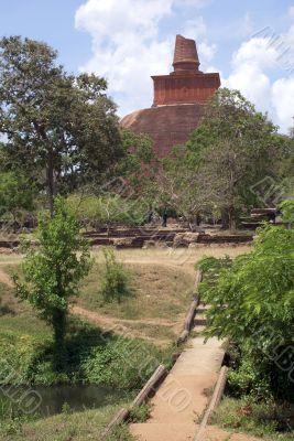 Stupa near river