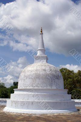 Small white stupa