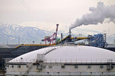 LNG reservoir air pollutions