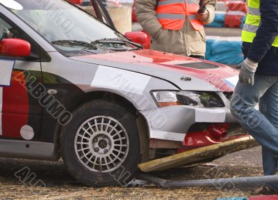Rally car crash