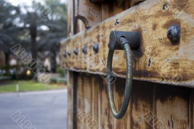 Old Arabic Gate with large door handle