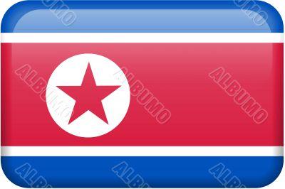 North Korea Flag Button