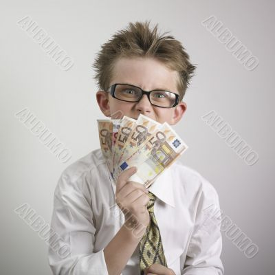 Boy with cash