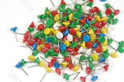 Multi-colored stationary pins