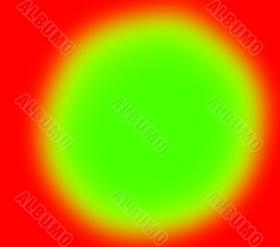 Green spot on red