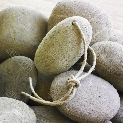 Pumice stone on other stones