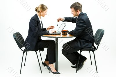 Business partners at work