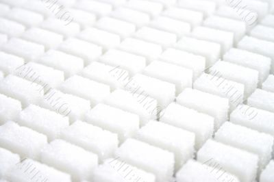 A plenty of white lump sugar