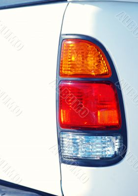 White Truck Tail Light