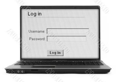 notebook with log in screen #2