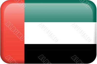 United Arab Emirates Flag Button