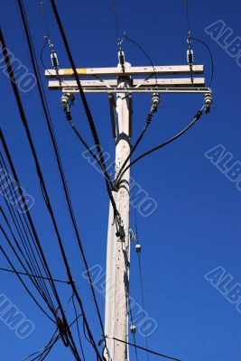 Electrical high voltage pole