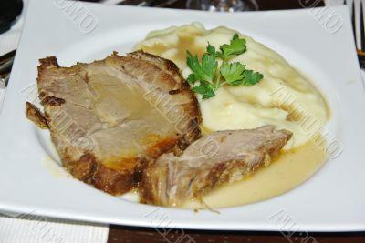 Steak in a plate