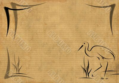 Background in style of an Japanese engraving
