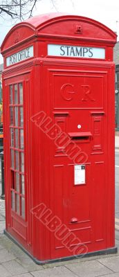 Combined Red Telephone Box and Post Box
