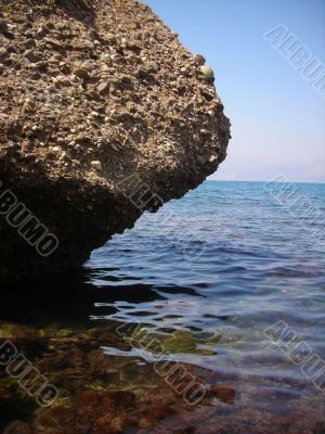 Rock and Summer Sea