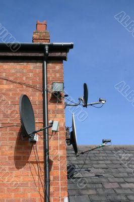 3 Satellite Dishes