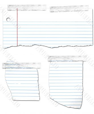 Ripped and Taped Loose Leaf Notebook Paper