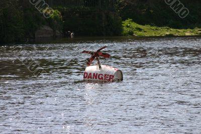 Danger Buoy on River Dee