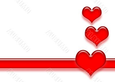 Heart and Stripe Background