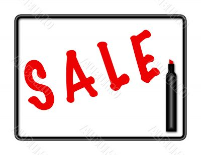 Marker Board SALE Sign
