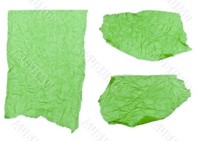 Ripped Green Tissue Paper