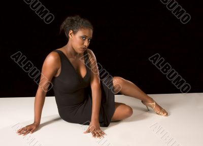 Beautiful African-American girl