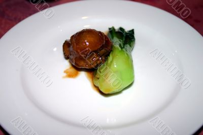Chinese Abalone and Pak Choi