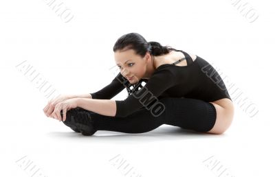 fitness in black leotard 2