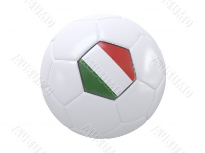 Ball with flag of the Italy